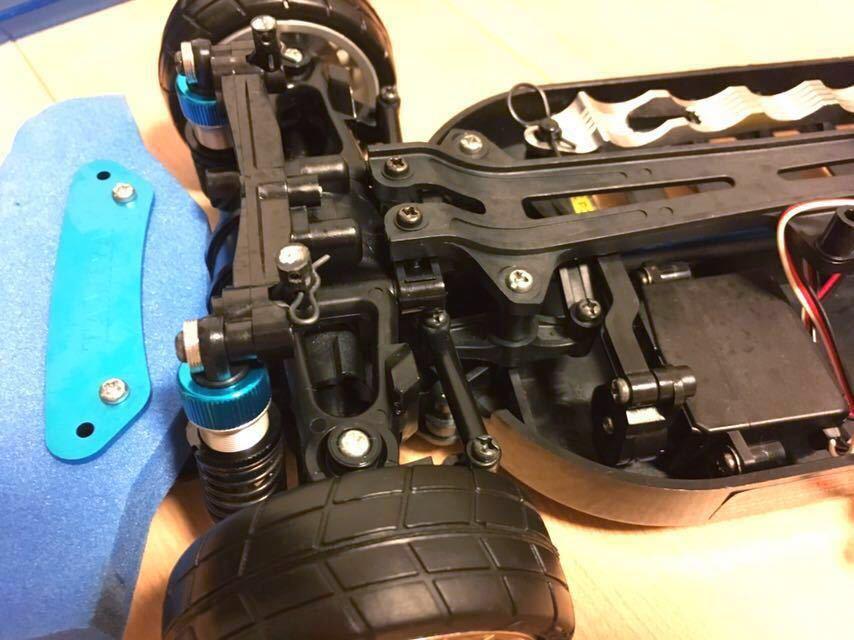 送料無料 極美リアルボディ! TT-01 スバル BRZ サーボ モーター ライトパーツ オプションつき ラジコン タミヤ_画像8
