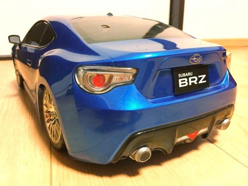 送料無料 極美リアルボディ! TT-01 スバル BRZ サーボ モーター ライトパーツ オプションつき ラジコン タミヤ_画像6
