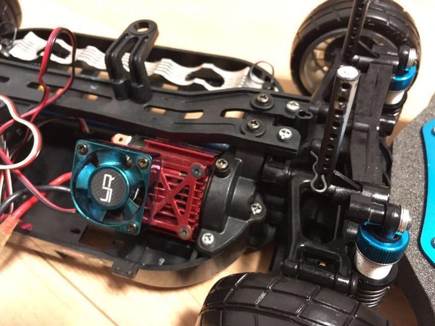 送料無料 極美リアルボディ! TT-01 スバル BRZ サーボ モーター ライトパーツ オプションつき ラジコン タミヤ_画像9