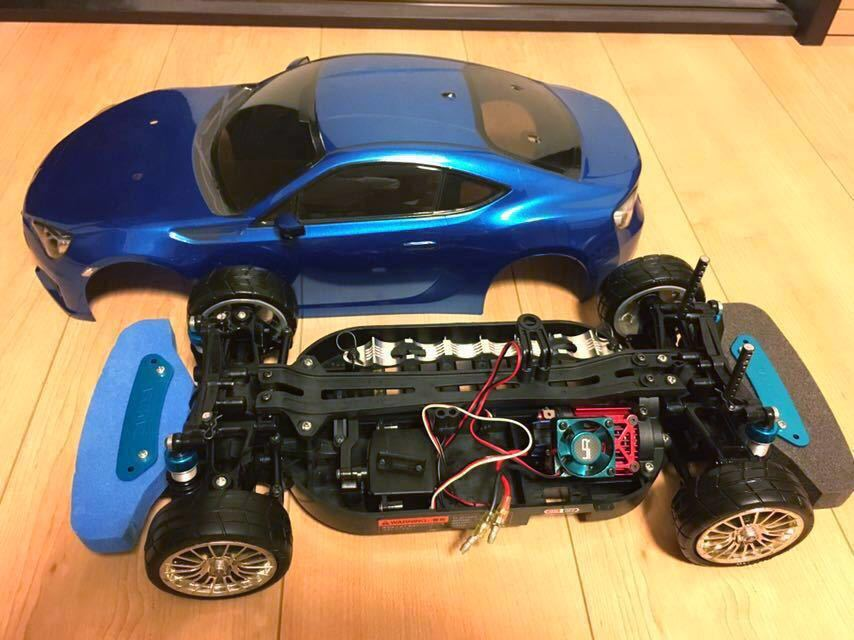 送料無料 極美リアルボディ! TT-01 スバル BRZ サーボ モーター ライトパーツ オプションつき ラジコン タミヤ