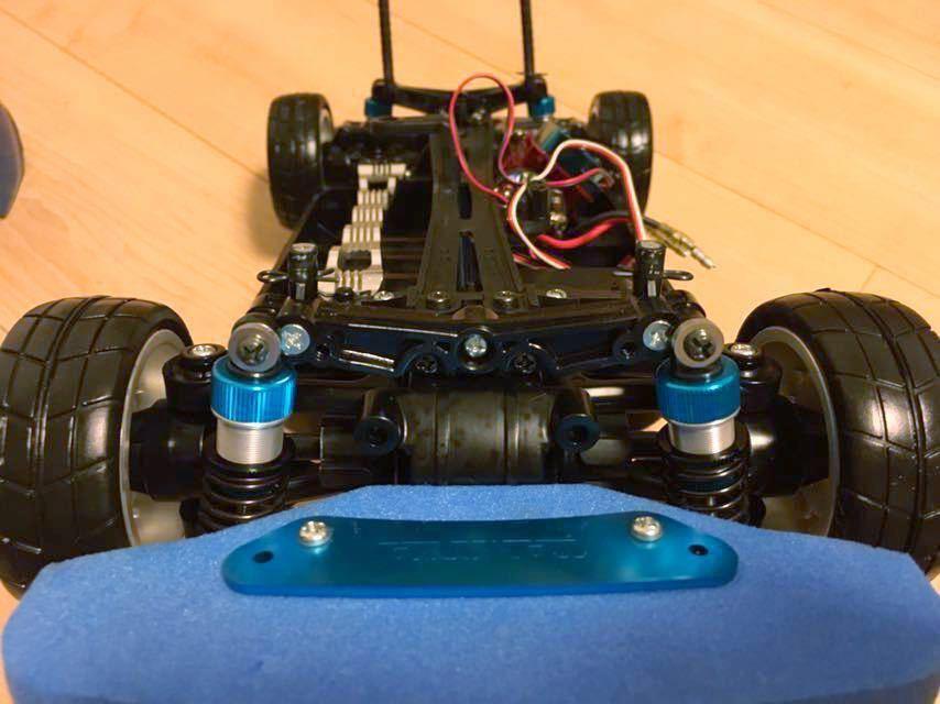 送料無料 極美リアルボディ! TT-01 スバル BRZ サーボ モーター ライトパーツ オプションつき ラジコン タミヤ_画像3
