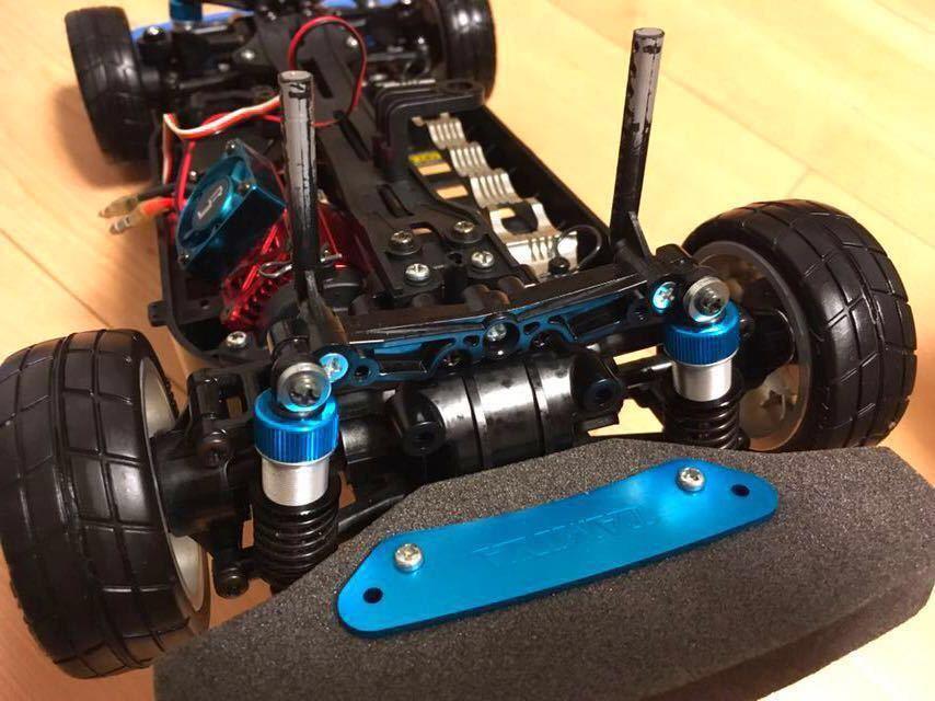 送料無料 極美リアルボディ! TT-01 スバル BRZ サーボ モーター ライトパーツ オプションつき ラジコン タミヤ_画像2