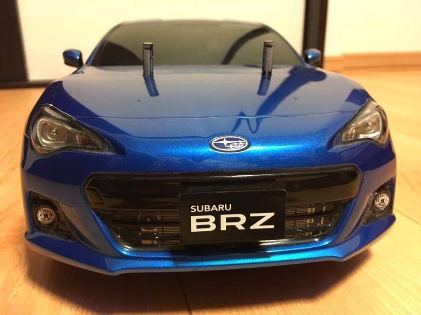 送料無料 極美リアルボディ! TT-01 スバル BRZ サーボ モーター ライトパーツ オプションつき ラジコン タミヤ_画像7