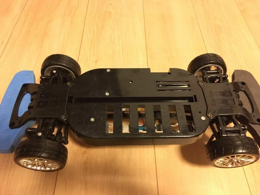 送料無料 極美リアルボディ! TT-01 スバル BRZ サーボ モーター ライトパーツ オプションつき ラジコン タミヤ_画像10