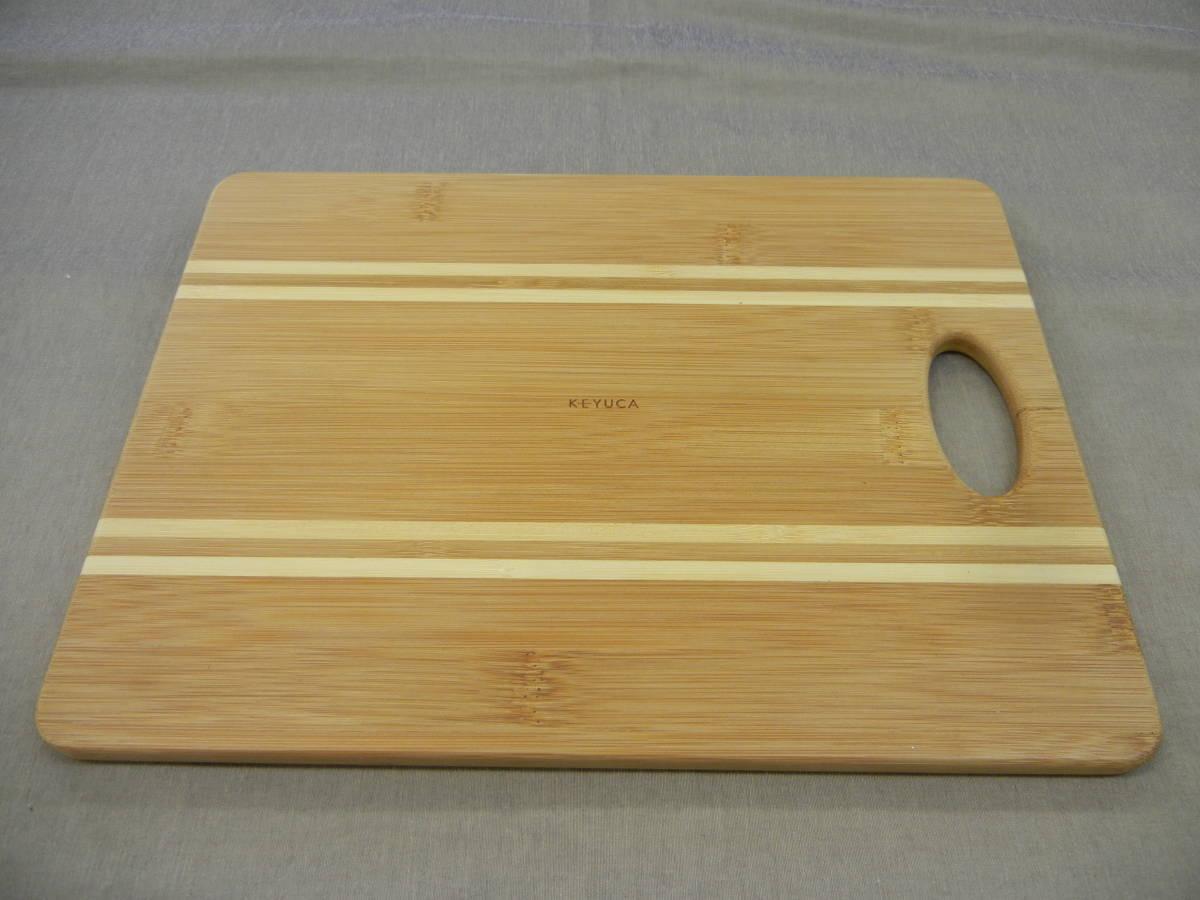 KEYUCA(ケユカ) bamboo ボーダー カッティングボード 29×22cm①