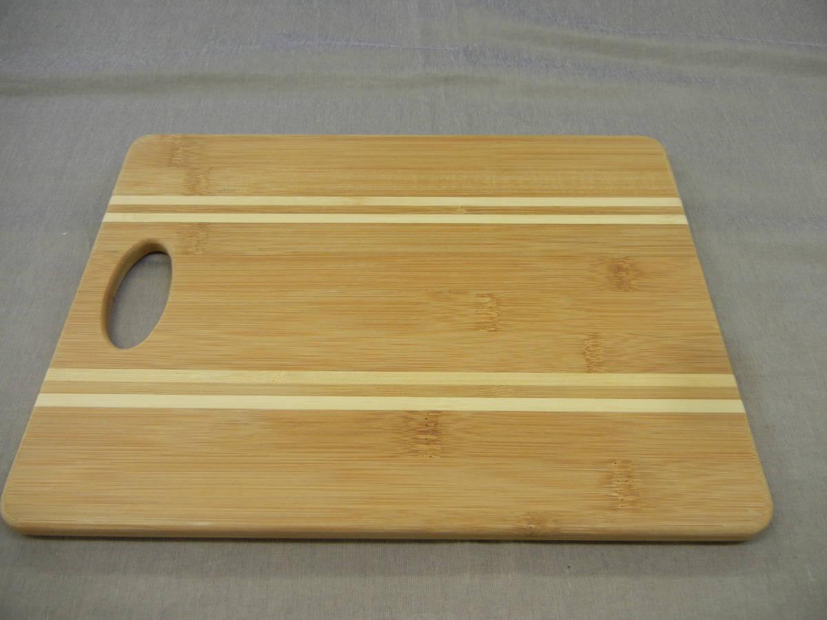 KEYUCA(ケユカ) bamboo ボーダー カッティングボード 29×22cm①_画像2
