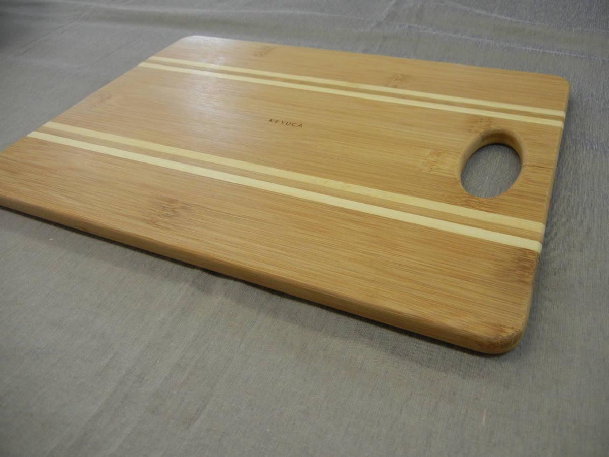 KEYUCA(ケユカ) bamboo ボーダー カッティングボード 29×22cm①_画像4