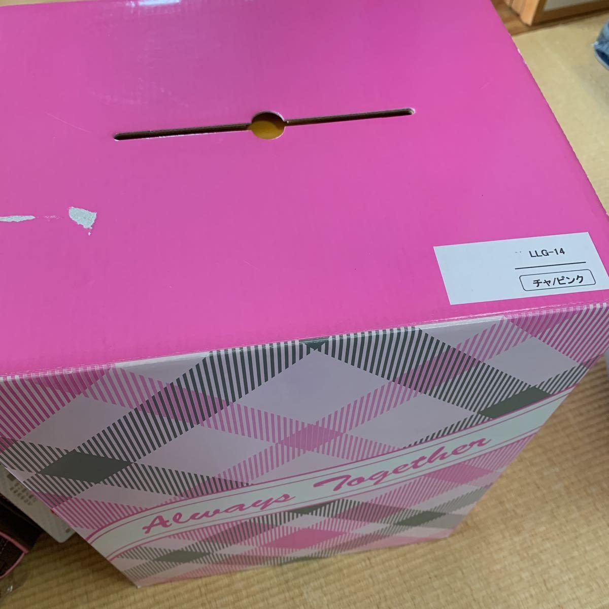 新品未使用 池田地球 ランドセル 型落ち ブラウン ピンク 刺繍 A4フラットファイル対応 日本製_画像10