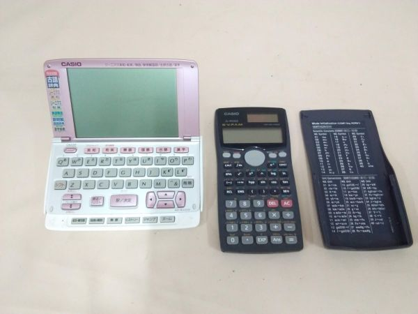 N01-001691 CASIO 関数電卓 電子辞書セット_画像2
