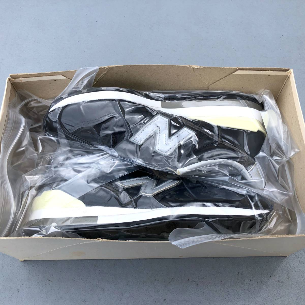 NB公式リペア済 デッドストック 90s USA製 NEW BALANCE M996LB US8D 26cm オールレザー ビンテージ 新品 アメリカ米国製 ブラック×グレー_画像10