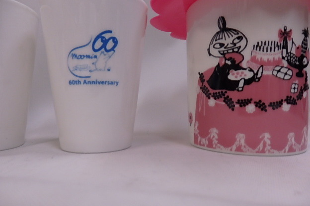 ムーミン シリコンカップカバー付き マグカップ リトルミイ +60周年記念 湯のみ 8個未使用品_画像4