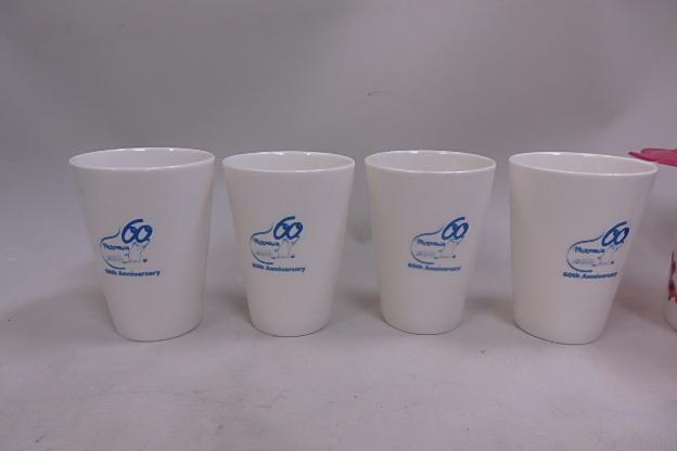 ムーミン シリコンカップカバー付き マグカップ リトルミイ +60周年記念 湯のみ 8個未使用品_画像5