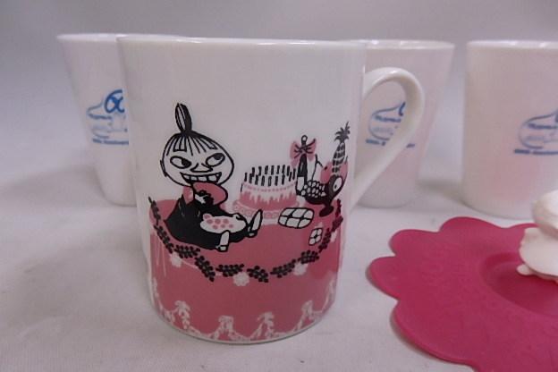 ムーミン シリコンカップカバー付き マグカップ リトルミイ +60周年記念 湯のみ 8個未使用品_画像6