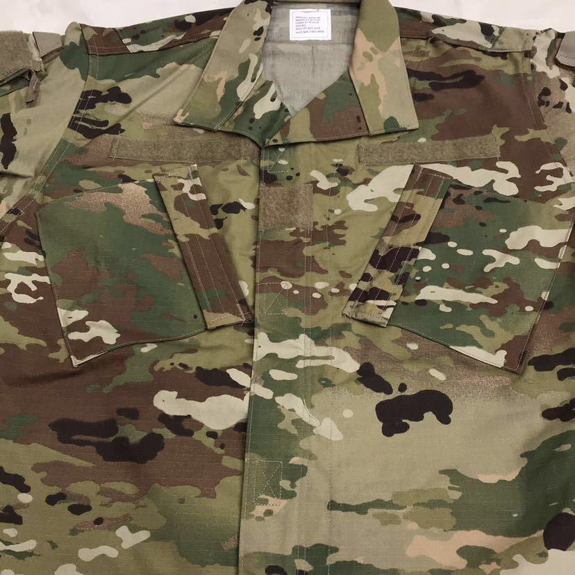 US ARMY ACU Jacket OCP マルチカム 戦闘服 迷彩服 Dead Stock 未使用 Medium Regular 米軍実物 米軍 米陸軍 PROPPER社製 リップストップ_画像3
