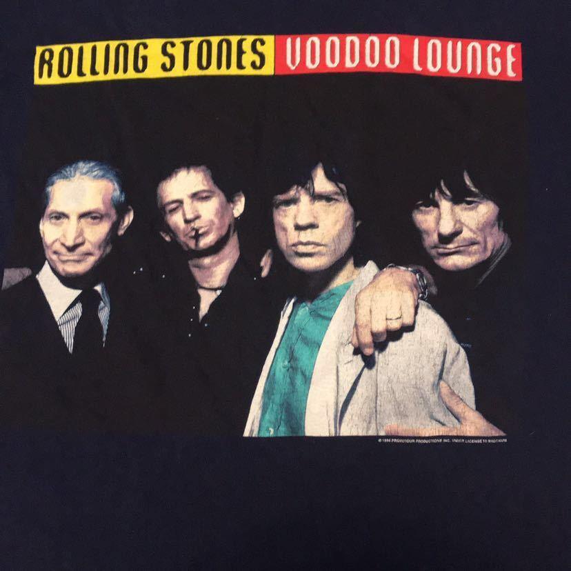 90s 90年代 THE ROLLING STONES ローリングストーンズ VOODOO LOUNGE ツアーT Budwiser VINTAGE ビンテージ ロックT バンドT BROCKUM L USA_画像2