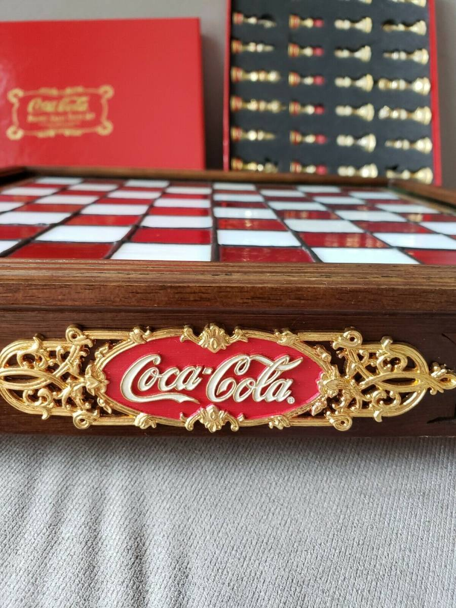 コカ・コーラ ステンドグラス チェスセット 1996年製_画像2
