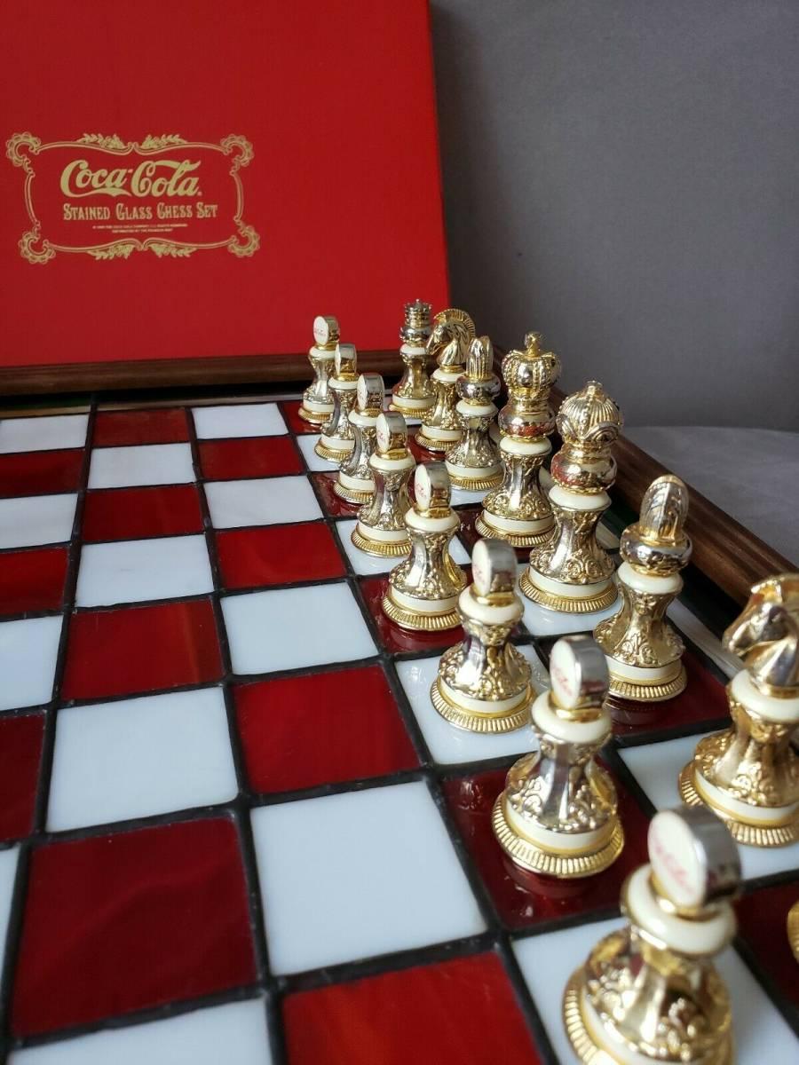 コカ・コーラ ステンドグラス チェスセット 1996年製_画像5