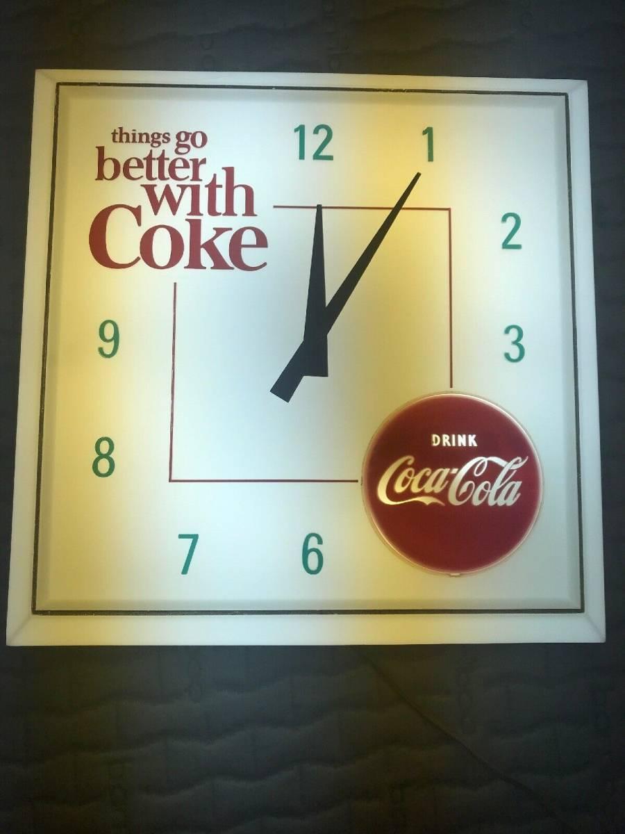 コカ・コーラ ヴィンテージ ライト機能付き壁時計_画像2