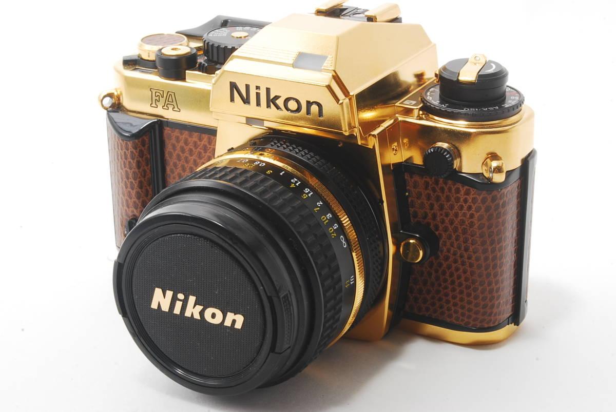 【激レア】Nikon ニコン FA GOLD SLR 35mm film camera + 特製レンズ 50mm F1.4 lens
