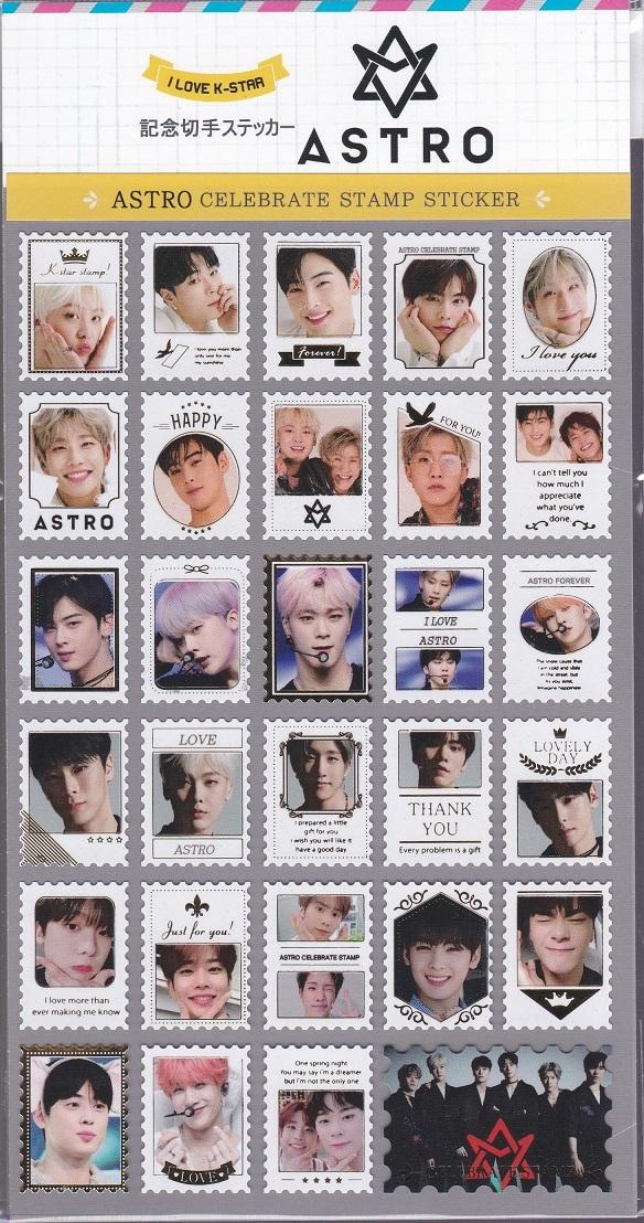 ☆New!■ASTRO/アストロ■写真付【記念切手ステッカー】☆韓国☆チャ・ウヌ_画像1