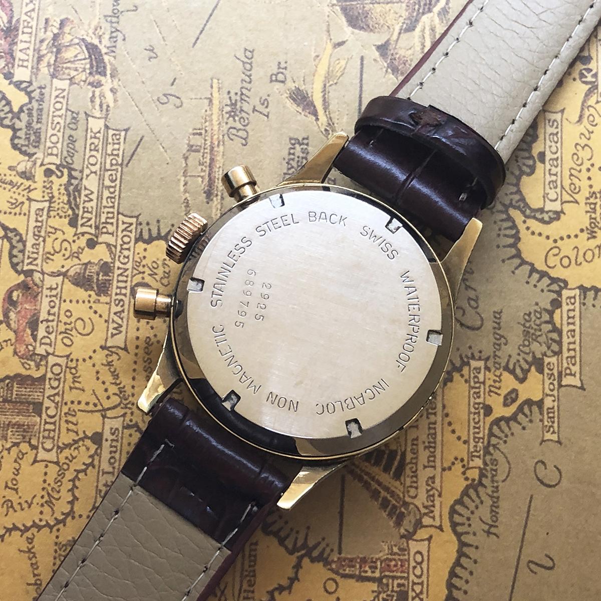 ★希少!! ボーム&メルシエ BAUME&MERCIER 1960s アンティーク Landeron149 メンズ 腕時計 クロノグラフ 手巻 白文字盤 ビンテージ 高級_画像9
