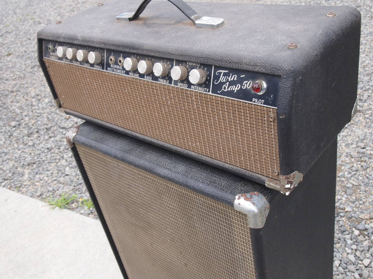 ELK? ECHO? Twin-Amp 50 ツインアンプ50 ジャンク品 ビンテージ 1960年代 チューブアンプ 真空管