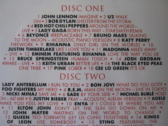★SONGS FOR JAPAN<2CD全37曲収録・輸入盤> クイーン/ジョンレノン/ エルトンジョン/レディーガガ/マドンナ/ボブディラン/ボンジョビ/U2 _画像3