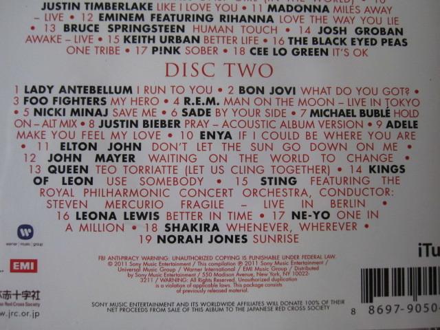 ★SONGS FOR JAPAN<2CD全37曲収録・輸入盤> クイーン/ジョンレノン/ エルトンジョン/レディーガガ/マドンナ/ボブディラン/ボンジョビ/U2 _画像4