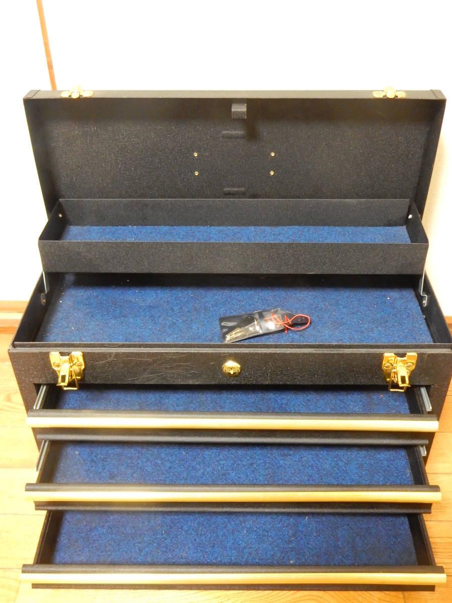 工具箱 ツールボックス 三段 そこそこ美品_画像2