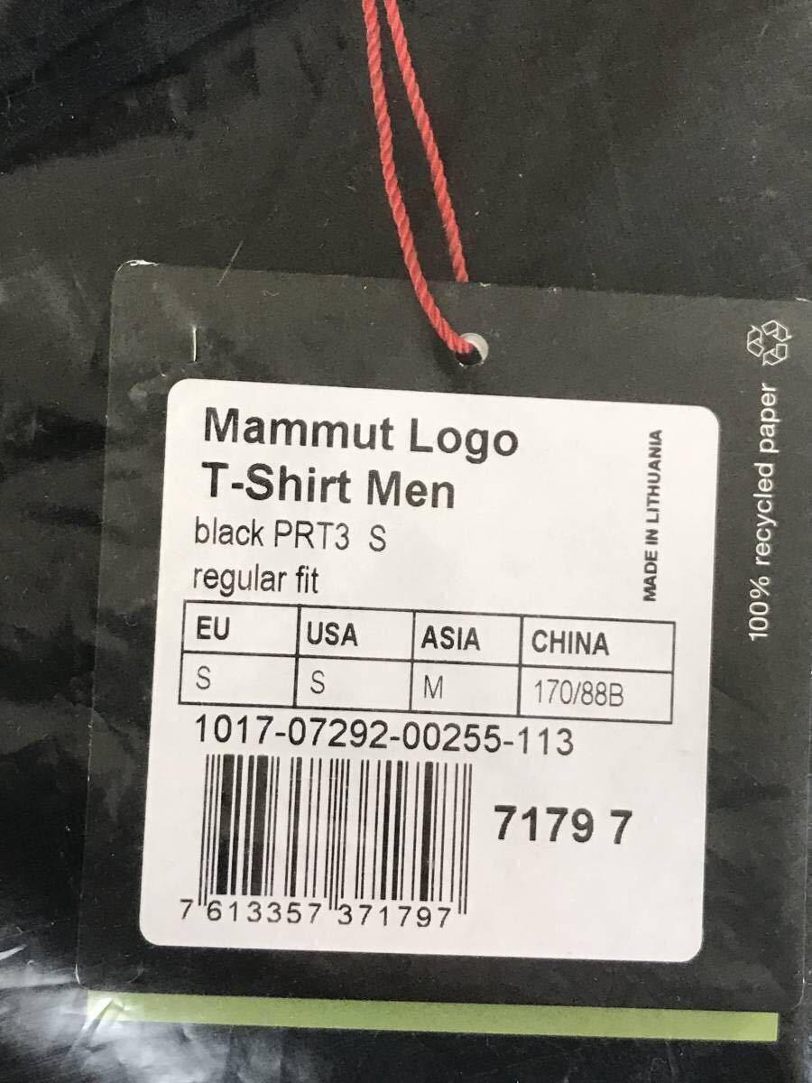 売切1円~新品正規品☆マムート Mammut Logo Tシャツ ブラック ユーロ:Sサイズ(アジア:Mサイズ)_画像5