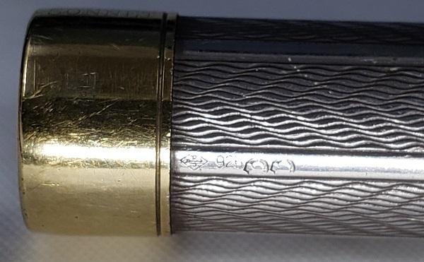 PARKER パーカー 万年筆 ソネット プルミエ フジェール スターリングシルバー 925 ペン先 18K 750 フランス_画像4