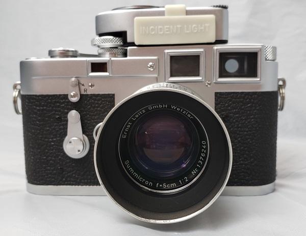 Leica ライカ M3 ダブルストローク レンズ Summicron ズミクロン 5cm F2 MCメーター付