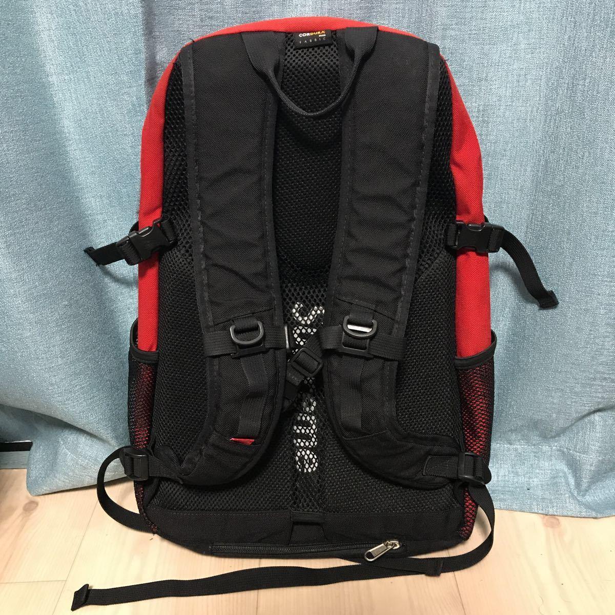 美品 Supreme 15SS Backpack シュプリーム バックパック リュック カバン 鞄 バッグ Bag レッド 赤 Red レインカバー付き_画像2