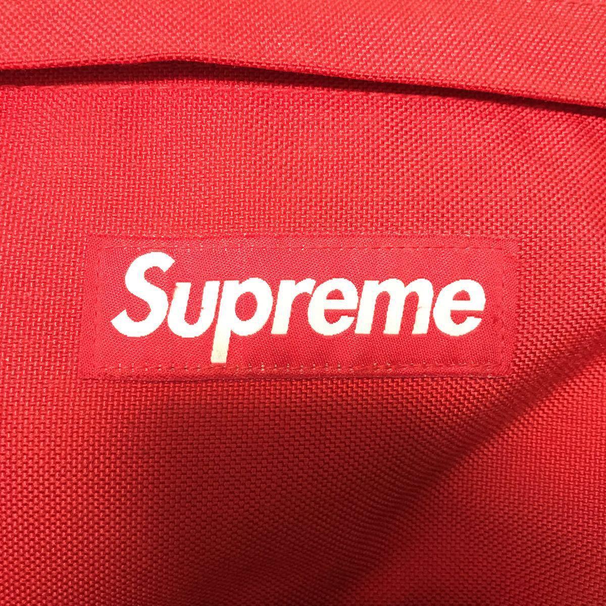美品 Supreme 15SS Backpack シュプリーム バックパック リュック カバン 鞄 バッグ Bag レッド 赤 Red レインカバー付き_画像5