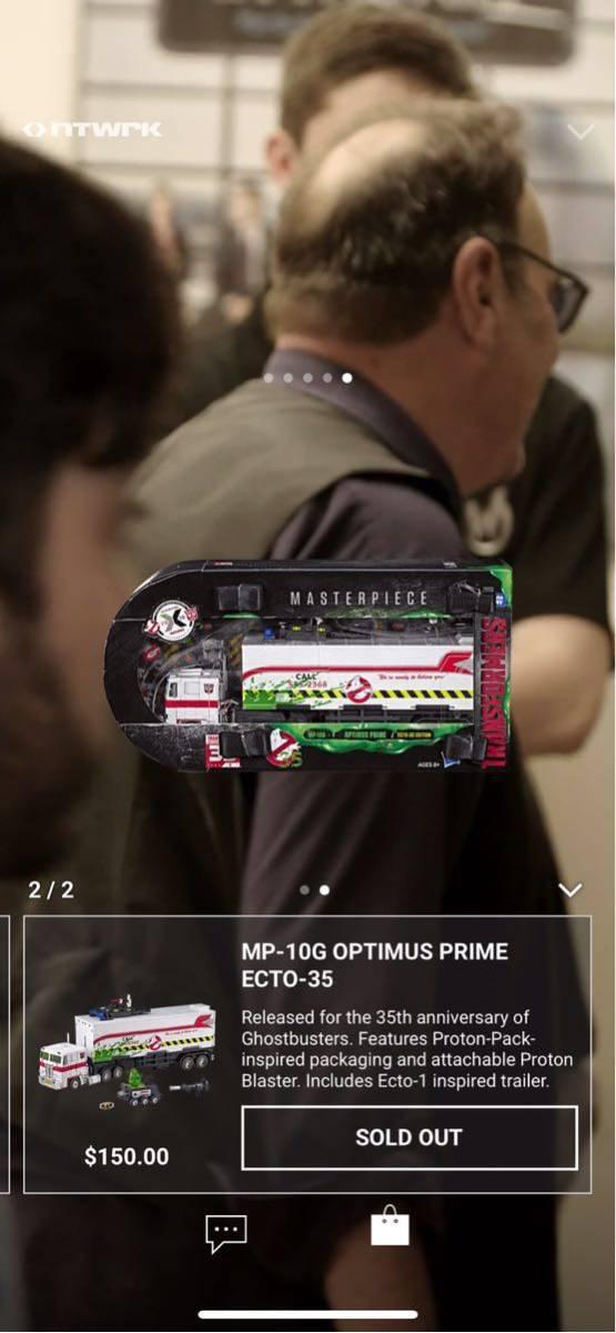 激レア 新品 Ghostbusters x Transformers MP-10G Optimus Prime ECTO-35 ゴーストバスターズ トランスフォーマー オプティマス プライム_画像4