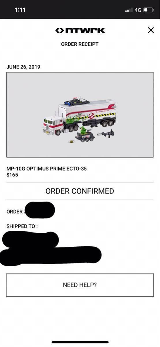 激レア 新品 Ghostbusters x Transformers MP-10G Optimus Prime ECTO-35 ゴーストバスターズ トランスフォーマー オプティマス プライム_画像6