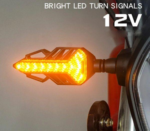 12V シーケンシャル LEDウインカー 流れるウインカー 2個Set ゼファー400 ゼファーχ ゼファー750 ゼファー1100 汎用_画像5