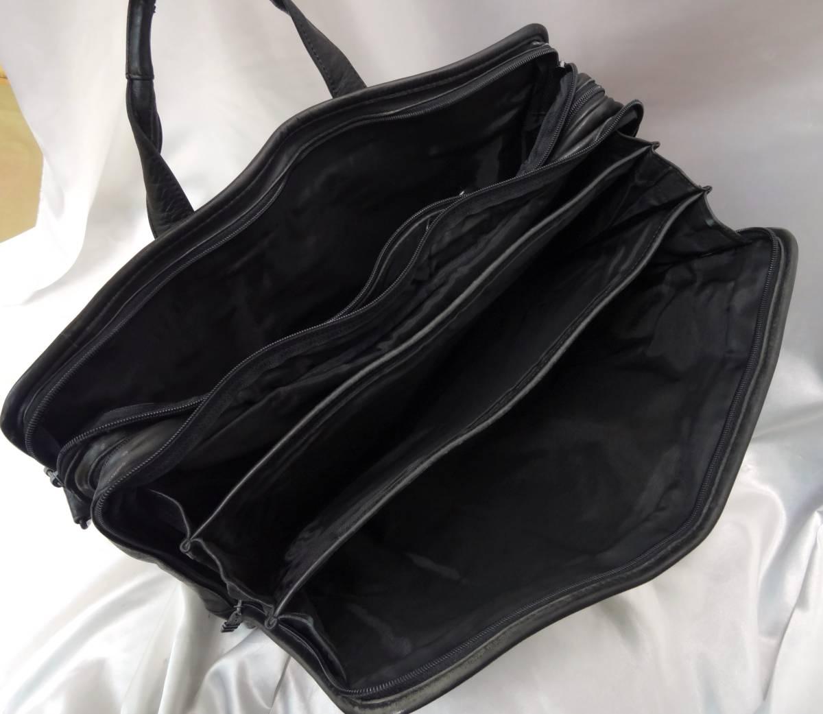TUMI トゥミ ★ ブリーフバッグ・書類バッグ ★ 本革素材 ★ ブラック_画像9
