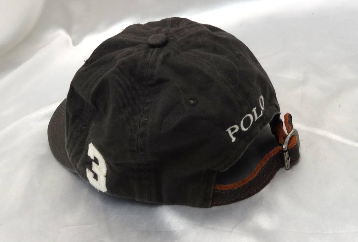 ポロラルフローレン ★ キャップ・野球帽・帽子 ★ ビッグポニーマーク刺繍入り ★ グレー ★ POLO RalphLauren _画像4