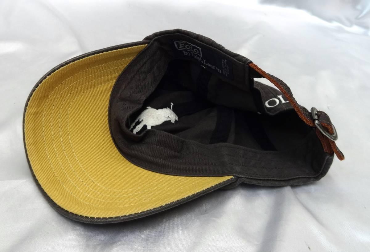 ポロラルフローレン ★ キャップ・野球帽・帽子 ★ ビッグポニーマーク刺繍入り ★ グレー ★ POLO RalphLauren _画像6