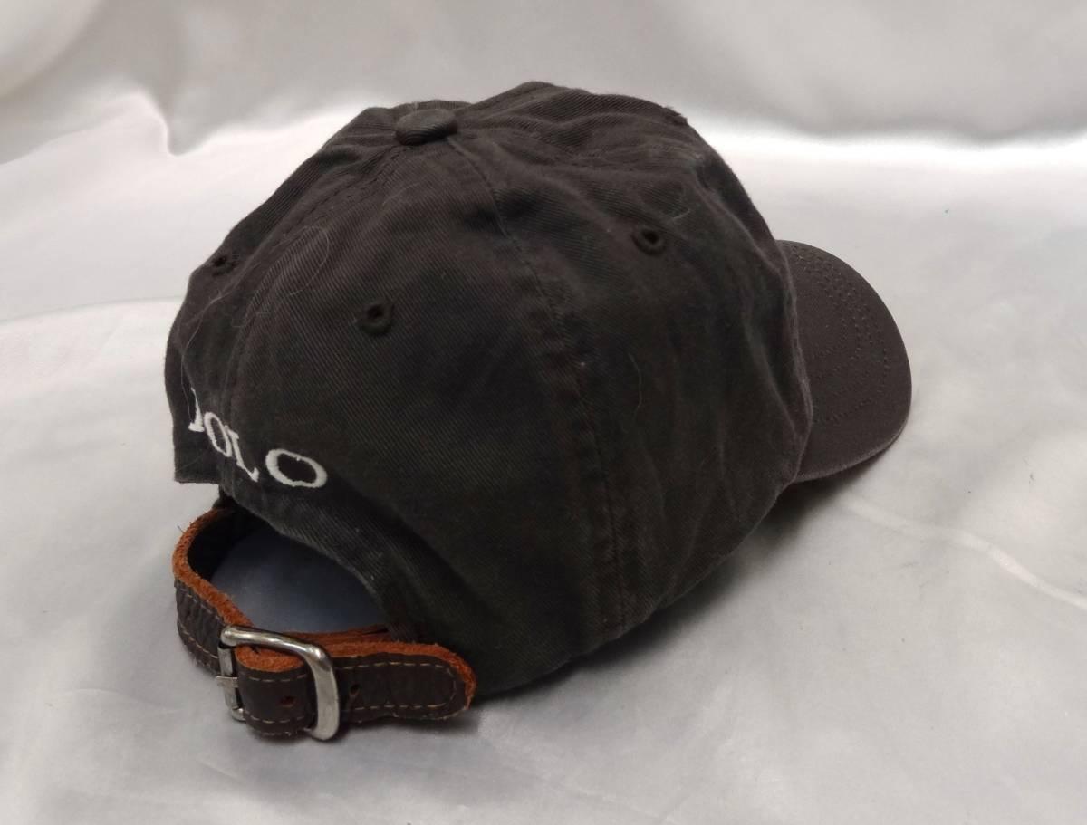 ポロラルフローレン ★ キャップ・野球帽・帽子 ★ ビッグポニーマーク刺繍入り ★ グレー ★ POLO RalphLauren _画像5