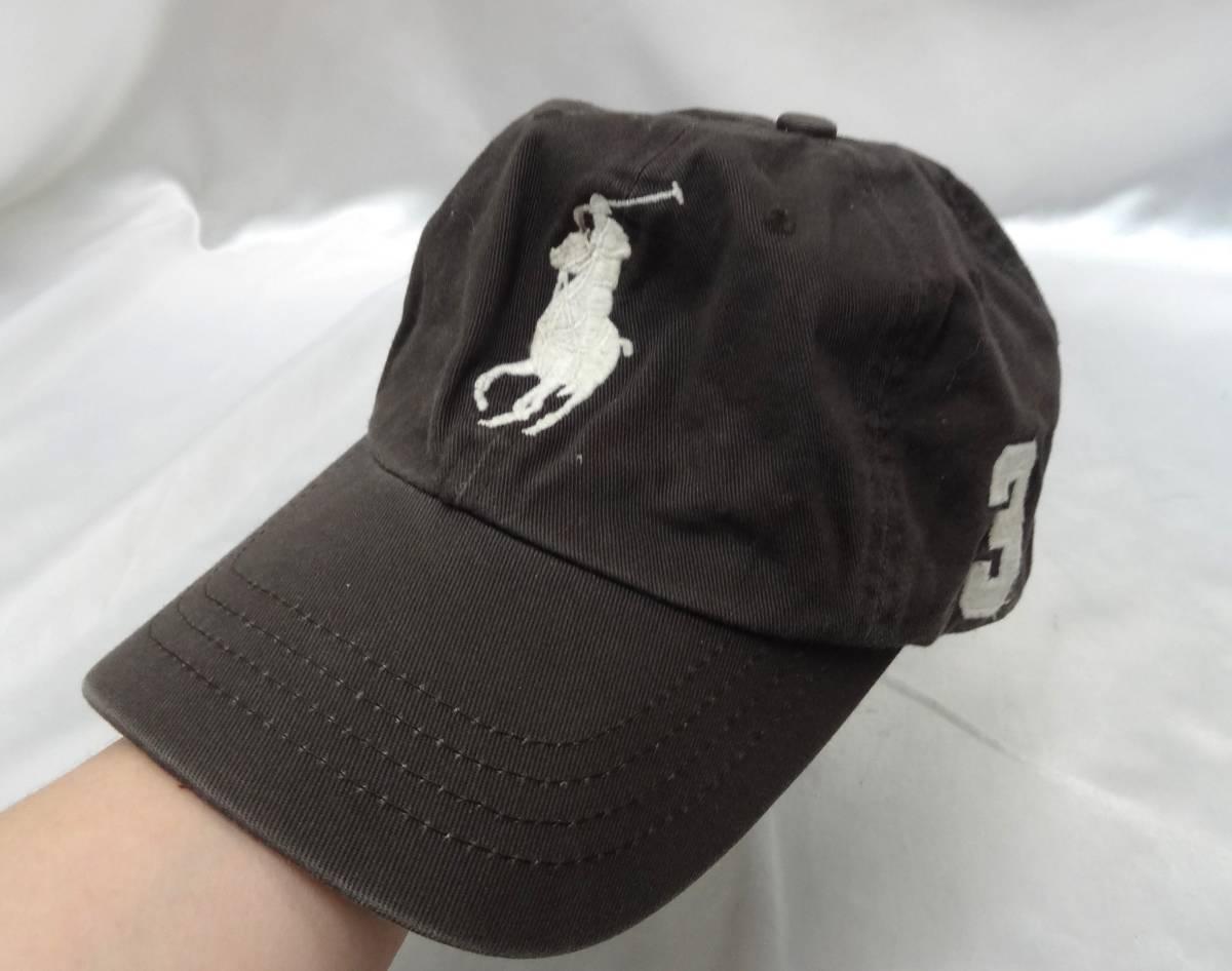 ポロラルフローレン ★ キャップ・野球帽・帽子 ★ ビッグポニーマーク刺繍入り ★ グレー ★ POLO RalphLauren