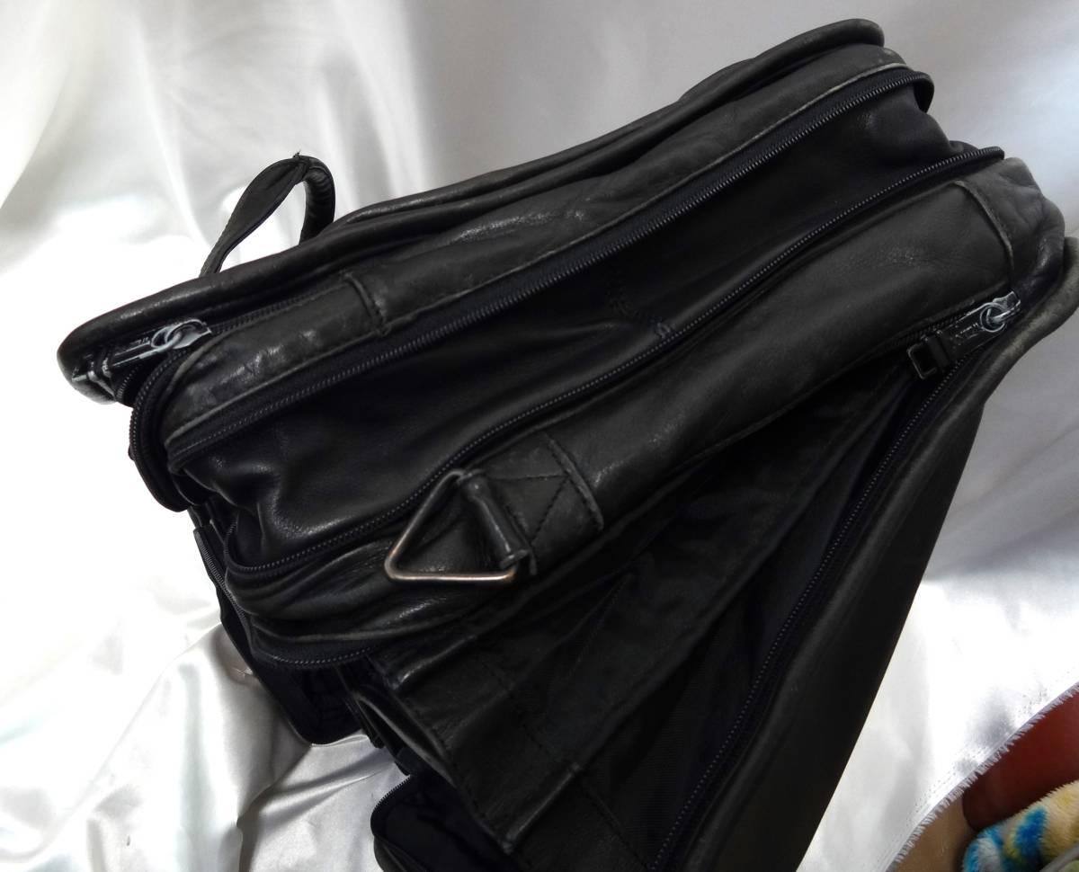 TUMI トゥミ ★ ブリーフバッグ・書類バッグ ★ 本革素材 ★ ブラック_画像10