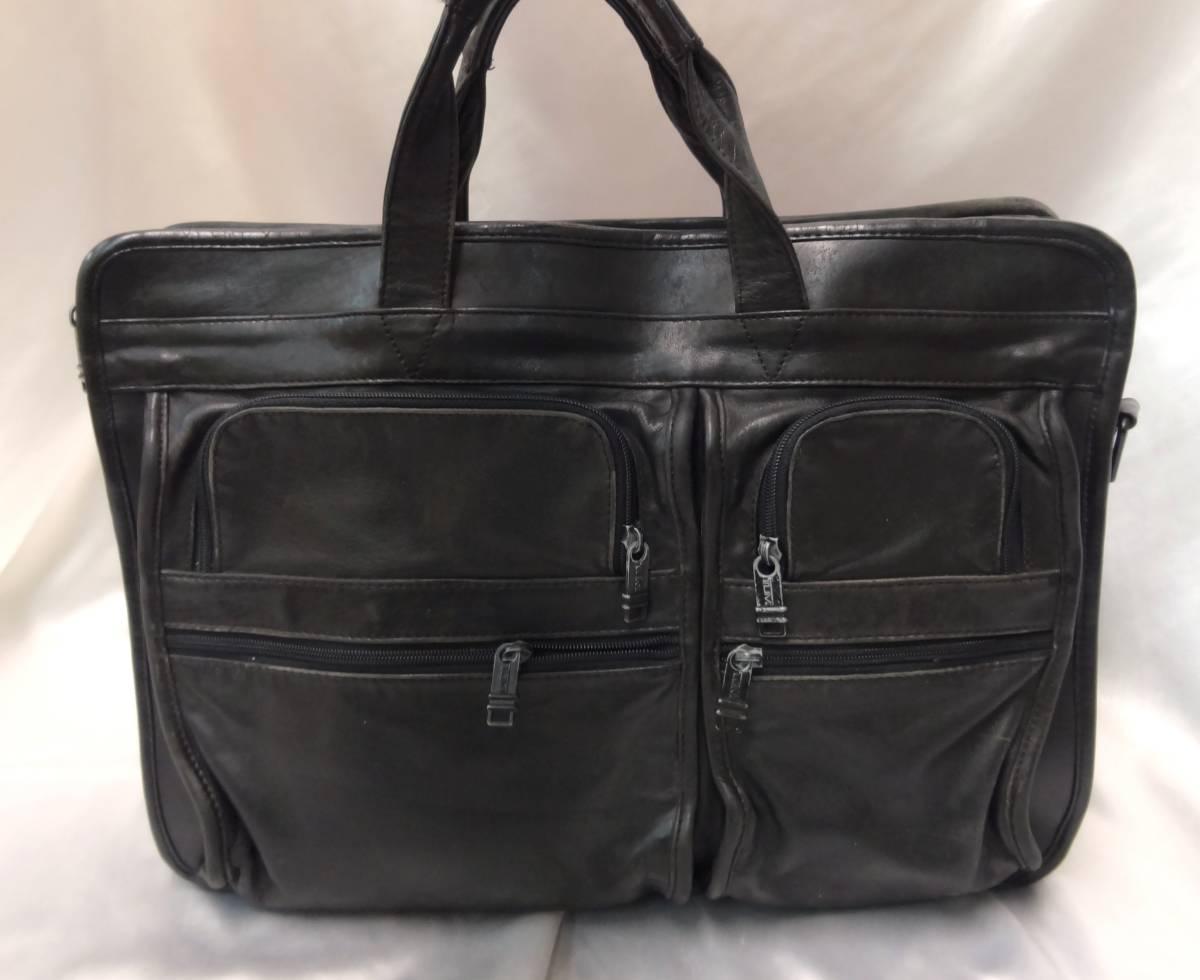 TUMI トゥミ ★ ブリーフバッグ・書類バッグ ★ 本革素材 ★ ブラック