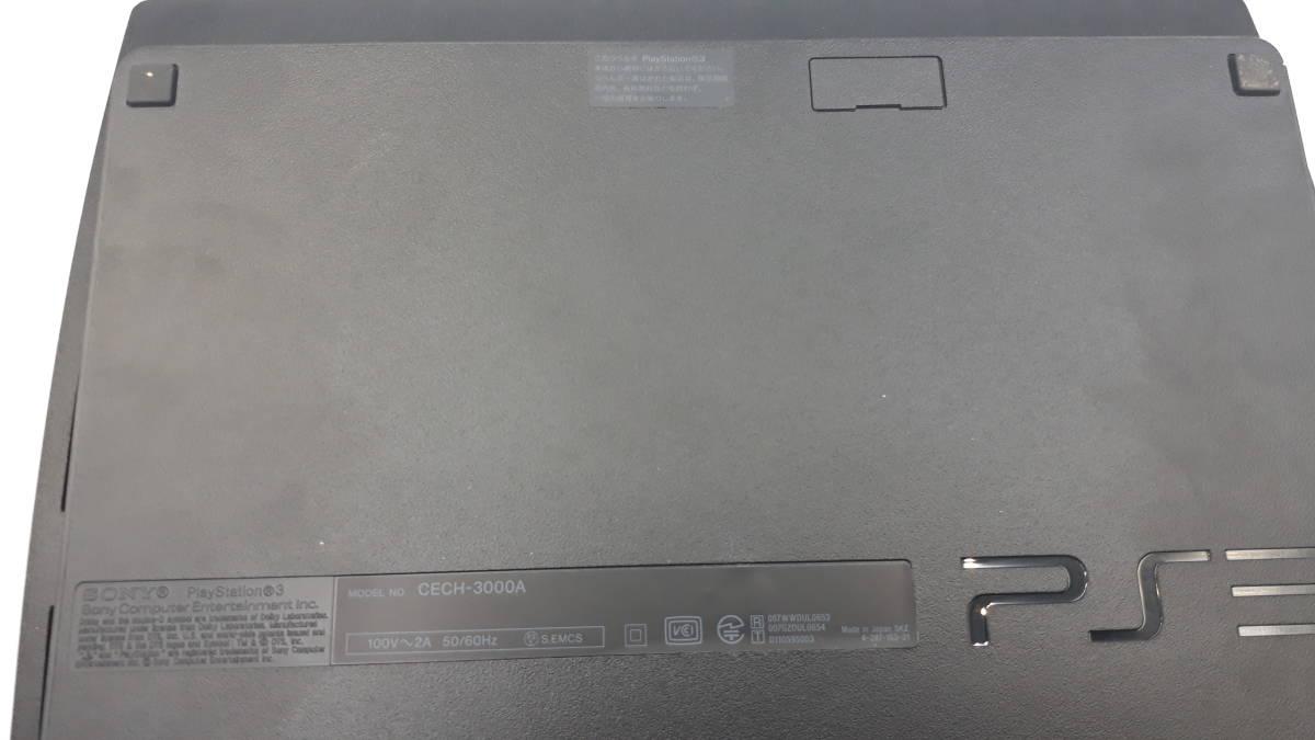 中古 完品 SONY PS3 本体 PlayStation 3 チャコールブラック 160GB CECH-3000A FW4.80 プレステ3 プレイステーション 初期化 動作確認済み _画像3