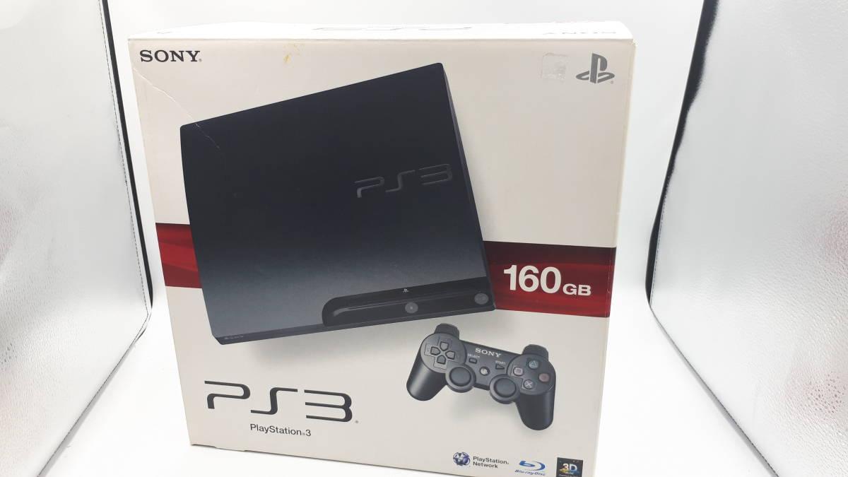 中古 完品 SONY PS3 本体 PlayStation 3 チャコールブラック 160GB CECH-3000A FW4.80 プレステ3 プレイステーション 初期化 動作確認済み _画像8