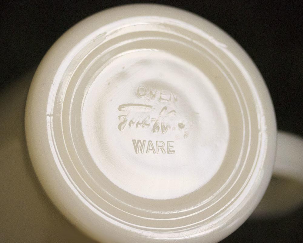 初期型! ファイヤーキング マグ アイボリー Dハンドル 1940年代 未使用! ミルクガラス コーヒー アメリカ製 ビンテージ アンティーク_画像3