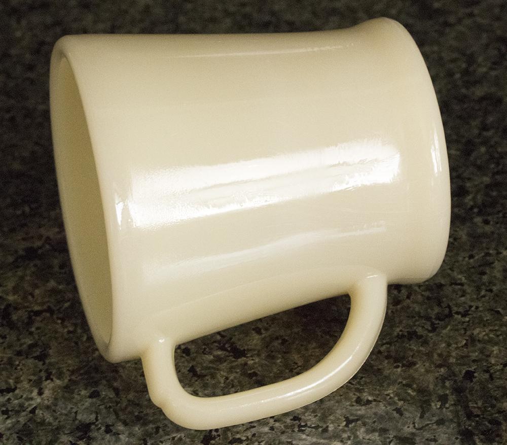 未使用! ファイヤーキング マグ アイボリー フラットボトム 1940年代 ミルクガラス コーヒー アメリカ製 ビンテージ アンティーク カップ_画像2