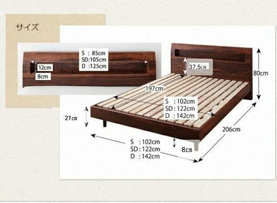 【1スタ売り切り】シングル・コンセント付きすのこベッド・ナチュラル・ヴィンテージデザイン_画像3