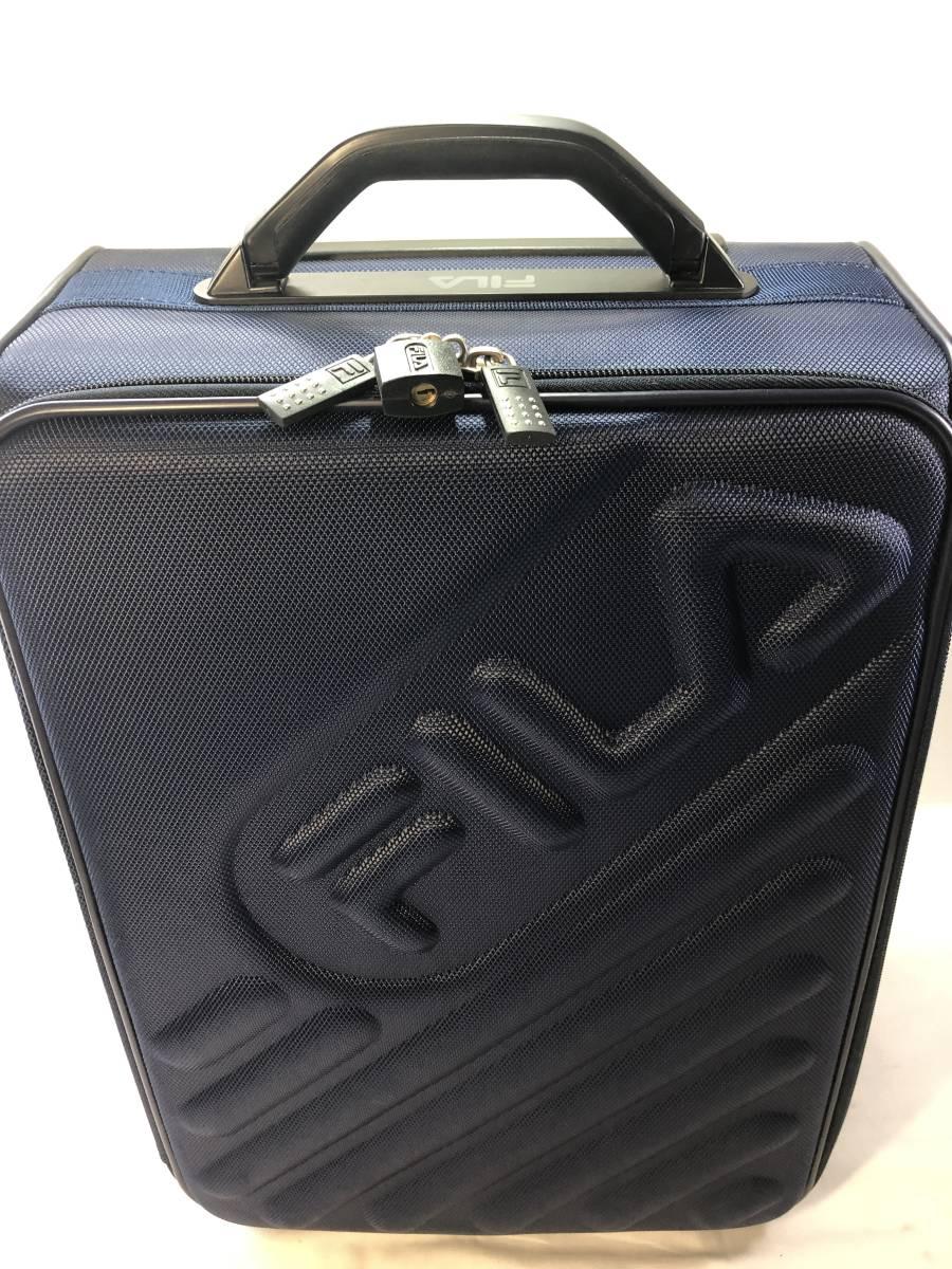 FILA ソフトキャリーケース 旅行用二輪キャスター 美品_画像2